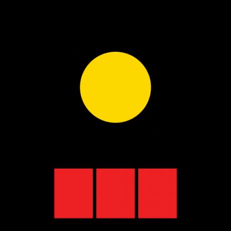 Piirroskuskuvassa on aurinko, jonka alla olevasta ruudukosta on punaisella merkitty kolme kesäkuukautta.
