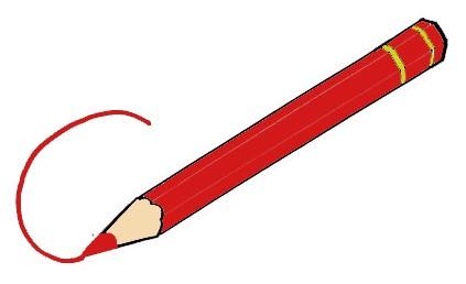 Piiroskuvassa on punainen värikuva, jolla on piirretty viivaa.