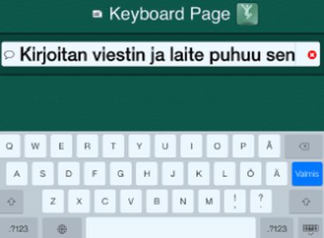 En vy av GoTalkNow-applikationen som fungerar på iPad och som ändrar text till tal