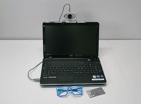 Bärbar dator med kopplad huvudmus.