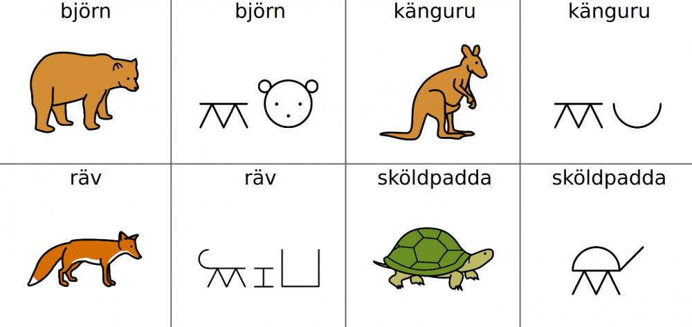 djur med bliss-symboler och bilder