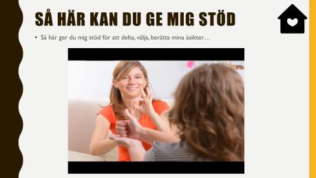 en sida av ett digitalt kommunikationspass med video