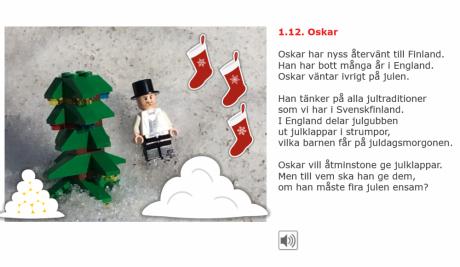 den första luckan i julkalender som berättar om Oskars julfest