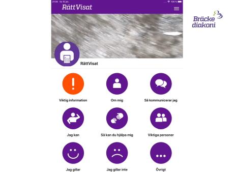 RättVisat app för ett digitalt kommunikationspass