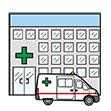 symbol för sjukhus