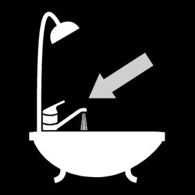 Avata vesihana kylvyssä