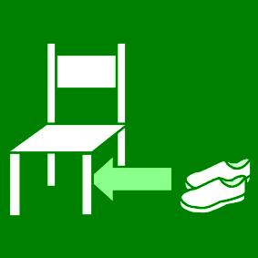 Laita kengät tuolin alle