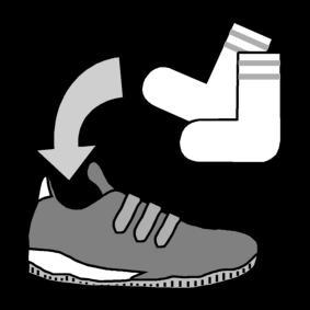 Käyttää sukkia kenkien kanssa