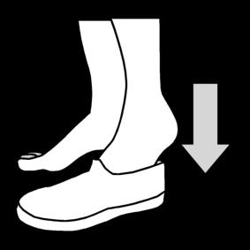 Laittaa voimistelutossut jalkaan