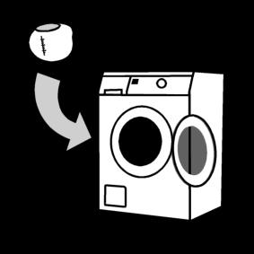 Laittaa pesupallo pyykkikoneeseen