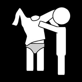 Avustaa pukeutumisessa