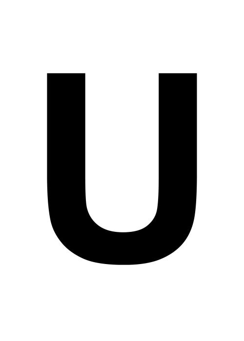 U Uu Uu >> U-kirjain, iso uu