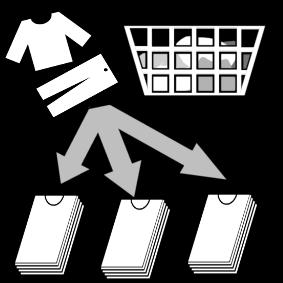 Lajitella puhtaat pyykit
