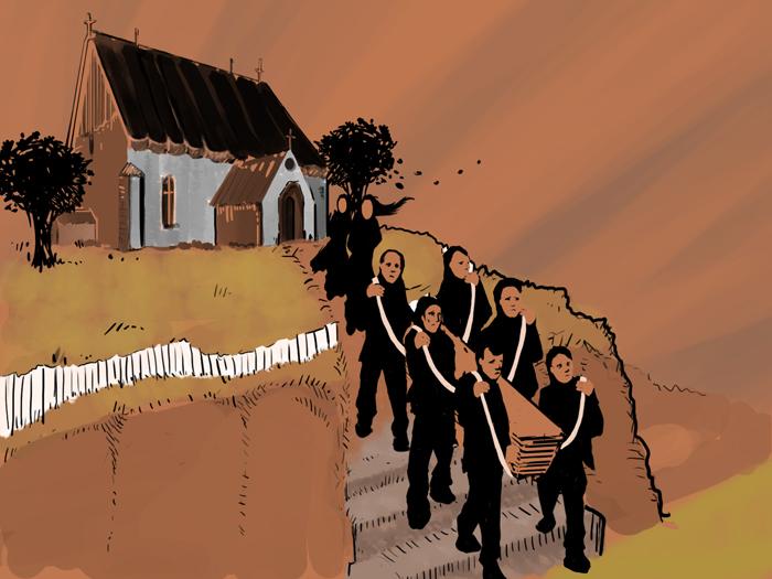 hautajaiset pukeutuminen miehet Pyhajarvi