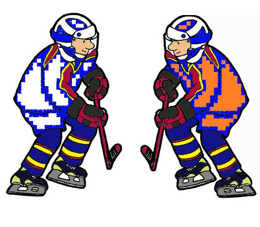 Vastakkaiset jääkiekkoilijat