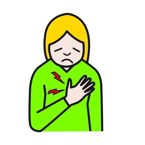 puristava tunne rinnassa ja selässä