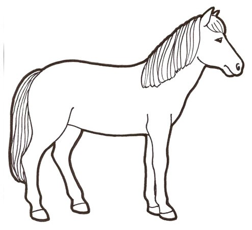 Värityskuva Hevonen