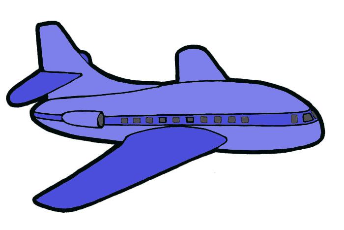 Lentokone Piirretty