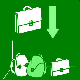 Koululaukkujen säilytys