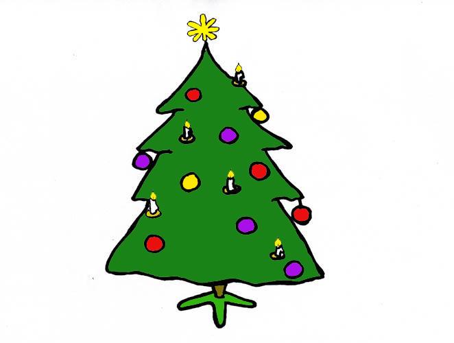 Piirretty Joulukuusi