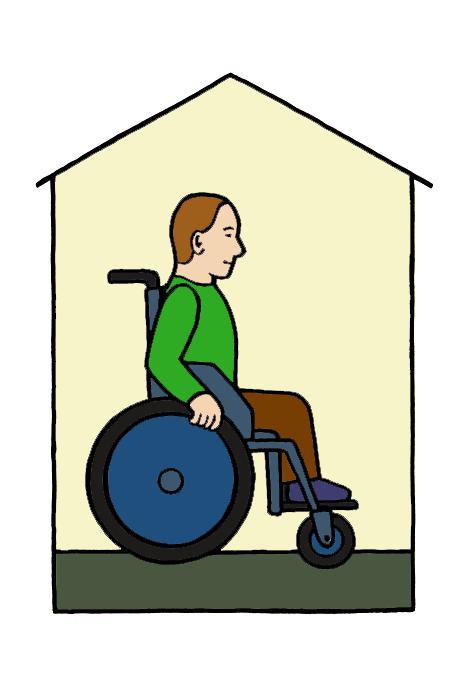 Liikkua pyörätuolilla sisällä