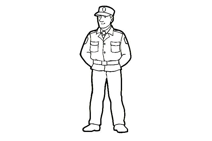 Poliisi Värityskuva
