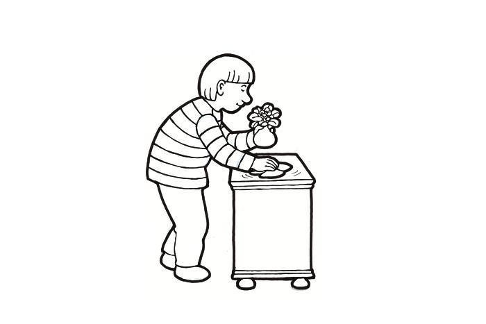 Pyyhkiä pölyt