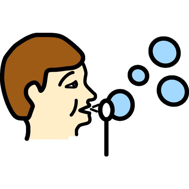 Puhaltaa saippuakuplia