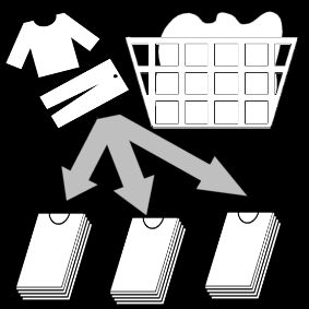 Lajitella pyykit