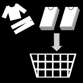 Laittaa pyykit koriin