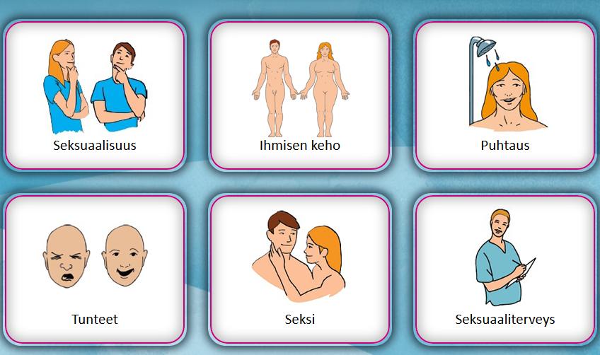Kuvakaappaus Seksuaalisuudesta selkokielellä -sivuston etusivusta