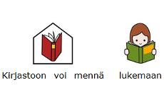 Kuvilla tuettua tietoa kirjastosta