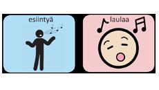 Osasuurennos musiikkitapahtuman kommunikointitaulusta.