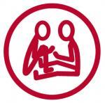 voimauttava vuorovaikutus -logo, jossa kaksi ihmishahmoa.