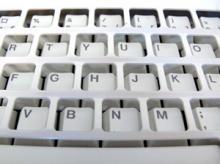 Ett galler på tangentbordet.