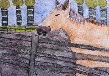 Pia Kelahaaran teos nimeltä Hevonen.