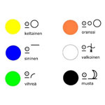 Bliss-symboliharjoitus: värit