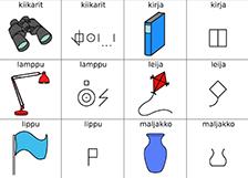 Esineitä ja bliss-symboleja