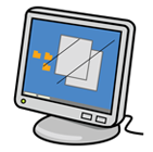 piirroskuva tietokoneen näytöstä