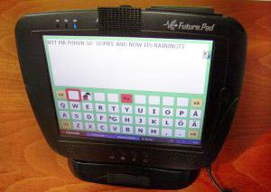 En vy av ett ruttangentbord i ett kommunikationsprogram.