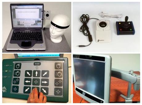 päähiiri, pallohiiri, joystickhiiri, ohjelmoitava näppäimistö ja katsehiirellä toimiva laite