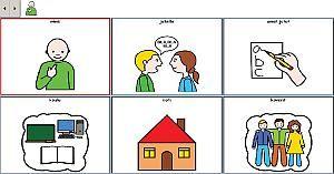 Vy över en kommunikationsapplikation som är producerad av Symbol for Windows programmet.