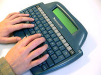 Vy över text producerat med ett taligenkänningsprogram.